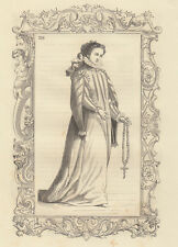 Donna nobile di Napoli, incisione su rame, 1859