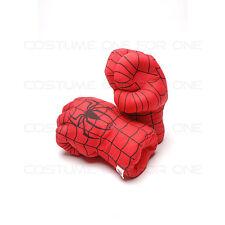 1 set di 2  Spiderman peluche punching pugilato boxing Guanto Tipo A
