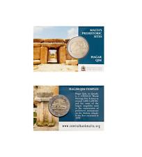 #RM# COINCARD 2 EURO COMMEMORATIVE MALTE 2017 - HAGAR QIM *MINT MARK PESSAC* NEW