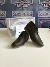 Sonoma Walnut Leather Lace Up CHUKKA Ankle Boots SZ 8 MED Mens BRANDON $80 NEW