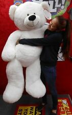 "Life Size White Teddy Bear Over 52"" Tall #320325"