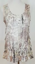 Coldwater Creek Sleeveless Blouse Top Tank Size M Womens Multi Color Tiers