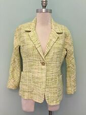NEW Talbots Green Tweed 6 $189 Blazer Jacket Career Suiting Casual boucle S *