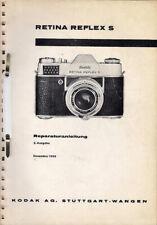Kodak Reparaturanleitung für Retina Reflex S - Original Ausgabe