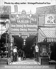 Old Prohibition Era 1921 Shoe Shine Hat Parlor/Cleaning Store Grand Palace Photo
