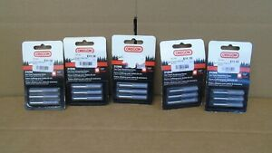 """Five New Oregon 31398 7/32"""" Saw Chain Sharpening Stones 5.5mm Three Pack"""