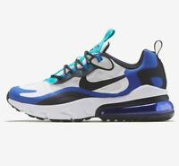 Nike Air Max 270 React White Black Hyper Blue  BQ0103-105 GS Size 4.5Y Women's 6