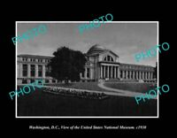 OLD POSTCARD SIZE PHOTO WASHINGTON DC USA VIEW OF THE NATIONAL MUSEUM c1930
