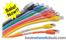 PACK of 25 ELITE CAT5E ETHERNET NETWORK CABLES RJ45 (Patch Cord) - 10 FT (3 m)