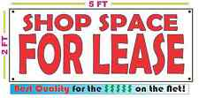 SHOP SPACE FOR LEASE All Weather Banner Sign NEW High Quality! XXL RENT
