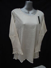BNWT Womens Sz 12/14 Bella B Wear Long Sleeve Cream Top