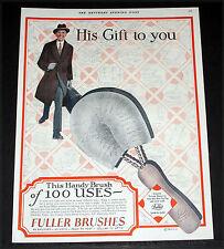 1927 OLD MAGAZINE PRINT AD, FULLER, 45 BRUSHES, 69 USES, CELLAR TO ATTIC, ART!