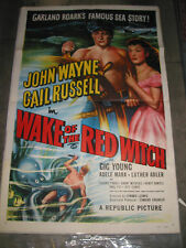 WAKE OF THE RED WITCH / ORIG. ONE-SHEET MOVIE POSTER (JOHN WAYNE & GAIL RUSSELL)