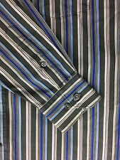 A41 Bugatchi Uomo Shirt Small Striped Long Sleeve Mens 100% Cotton