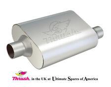 """Thrush Welded Muffler Offset / Centred 2-1/4"""" Exhaust box Thrush 17655"""