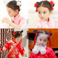 Accessories Tassel Hair Clips Chinese Traditional New Year Flower Hairpins