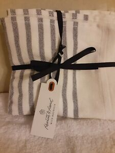 Hearth and Hand with Magnolia Washcloth Set of 3 White/Gray Stripe