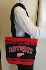 Detroit Red Wings Hockey T-Shirt Tote Bag, Handmade, Red & Black, Upcycled, New