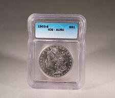 1903-S Morgan silver Dollar ICG AU50