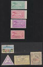 8 Netherlands unused Rocket Mail stamps 1945-46