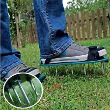 Gardening Grass Lawn Plastic Aerating Shoes Greensward Spikes Loosening Tools