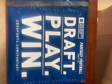 Cbs Sports 2020 Nfl Fantasy Football Draft Kit Stickers Board Pen