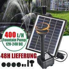 Solar Pumpe Teichpumpe Springbrunnen 5W 400L/H Fontäne Garten Teich Wasserspiel