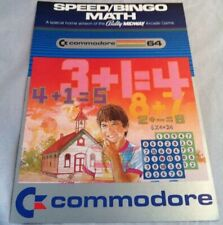Vintage Commodore 64 Speed Bingo Math Game Manual Instructions Insert Booklet