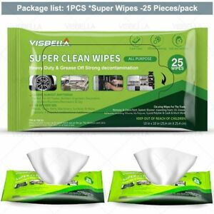 25pcs/lots Wet Wipe Car Alloy Wheel Leather Care For Oil Remover Clean Wipes Set