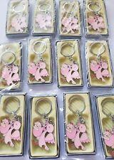12pcs baby Shower Keychains  Favors Storks Favors for girl