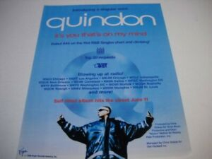QUINDON introducing a singular voice IT'S YOU... original 1996 Promo Poster Ad