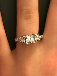 Natural Diamond Semi-Mounting by A Jaffe in Platinum 3/4CT. TW. F/G VS