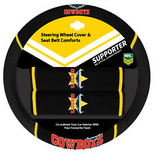 NRL Steering Wheel Cover - Seat Belt Covers - North Queensland Cowboys - Fit All
