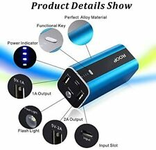 Power Banks 12000mah ROOP Portable Battery Charger 2 USB Ports External Battery