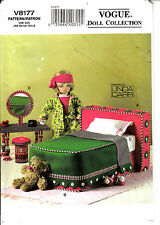 Vogue 8177 Doll Bedroom Bed Mattress Pillow Vanity Stool Sewing Pattern