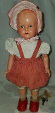 "Vintage Key Wind-Up Doll Celluloid & Tin Metal Walking Works - Japan, 13.5"""