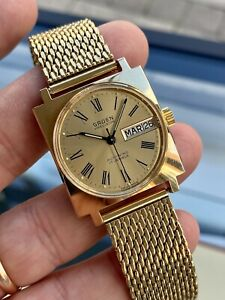 Gruen Precision Sean Connery Mens Vintage Automatic Day Date day date watch