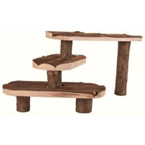 Trixie Natural Living Wooden Steps Decoration Stairs for Rabbit/Guinea Pig Cages