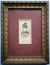 "19th Century Actress Theresa Vaughn ""The Honey Bee"" Duke's Cigarette Card framed"