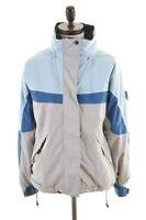COLUMBIA Womens Windbreaker Jacket Size 10 Small Blue Grey