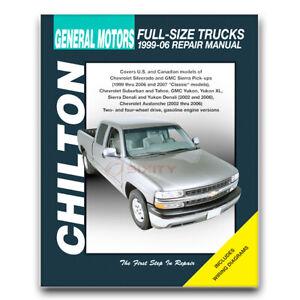 Chilton Repair Manual for 2002-2006 Chevrolet Avalanche 1500 - Shop Service ka