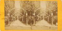Francia Giardino De Paris, Foto Stereo Vintage Albumina PL60OYL1