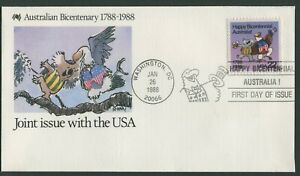 AUSTRALIAN BICENTENARY 1988 - JOINT ISSUE WITH THE USA - FDC