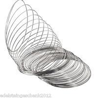 200 Reife Silberfarbe Spiraldraht für Armreifen 65mm