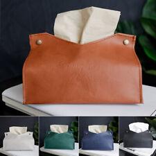 Us Bathroom Car Pu Leather Tissue Box Napkin Paper Rack Case Organizer Holder Gn