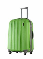 78 Litre Medium Hard Shell 4 Wheel Spinner GREEN Luggage Trolley Case Suitcase