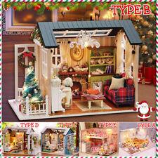 LED Puppenhaus Holz Möbel Zubehör Spielhaus Puppenstube DIY Gift Kid Miniature