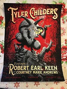Tyler Childers Robert Earl Keen  Chicago Poster