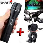 Ultrafire Flashlight 20000 LM XM-L T6 LED Zoomable Tactical 18650 +Torch Holder