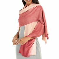 INC International Concepts ombre shine women's scarf pashmina evening wrap PINK